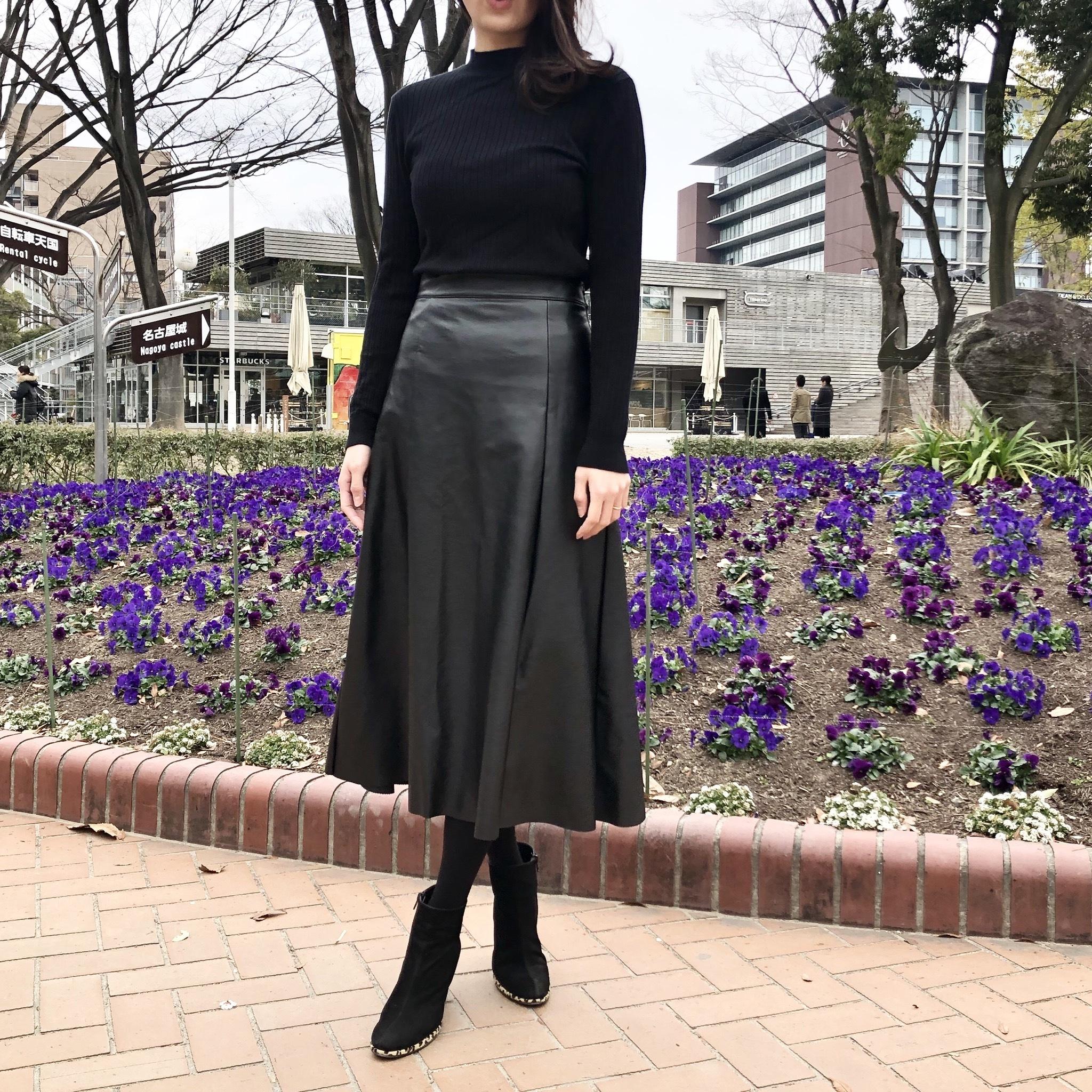 レザー スカート コーデ 大人の品格高まる♡フェイクレザースカートのおすすめ冬コーデ15選